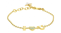 Pulseira Guess Kiss And Love Dourado