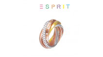 Esprit® Anel Multicolor com Cristais - 19mm